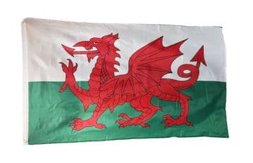 5 feet x 3 feet WALES (WELSH) FLAG with EYELETS caravan camping motorhome boat